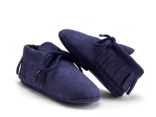 Baby Moccasins in Navy Blue