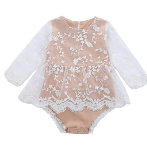 The Angelina Lace Romper 3-24M