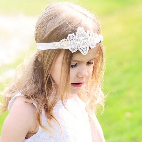 large white rhinestone headband