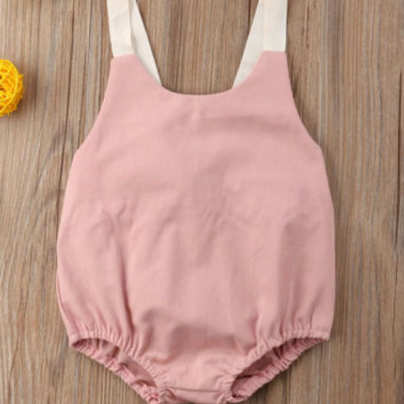 The Dusty Rose Romper 6m