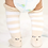 Thumbnail: Khacki Stripped Kitty Knee High Socks