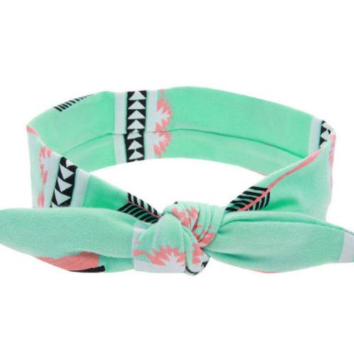 Mint Aztec Knot Headband