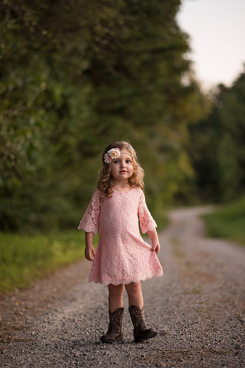 Simply Pink Lace Dress