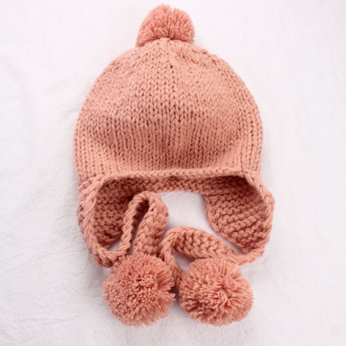 Knit Pomp Pom hat
