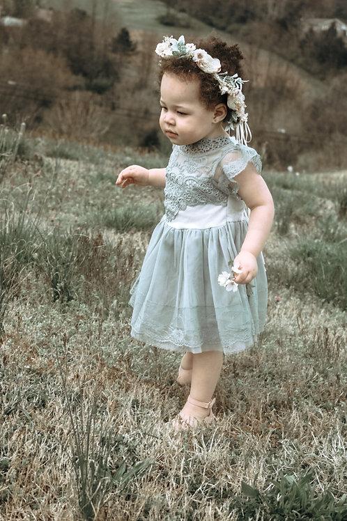 The Cara Anna Dress in Grey 2t, 5, 6