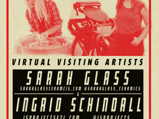 Printmaking and Ceramic Virtual Visiting Artists!