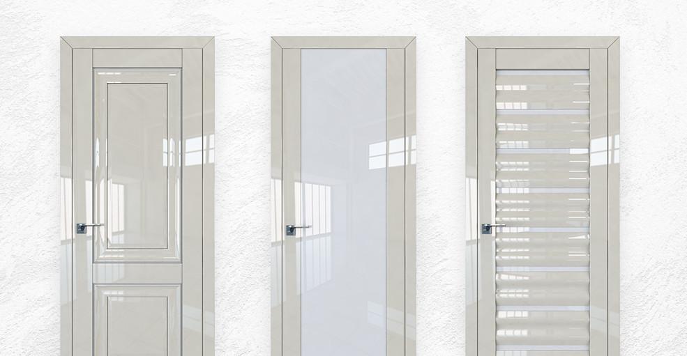 Двери серии L цвета «Галька Люкс»