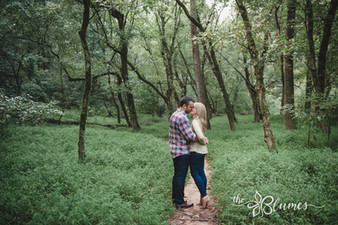 Kiss under the trees