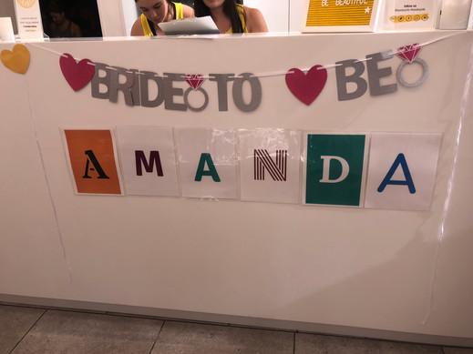 Amanda's welcome Soul Cycle