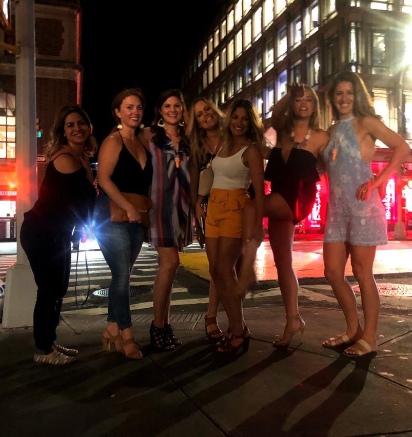 The girls out on Saturday night