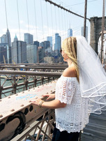 Bride on Brooklyn Bridge