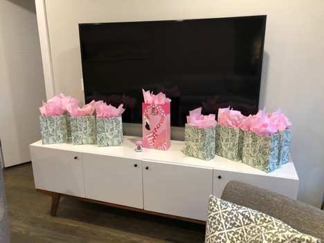 Gift bags for guests