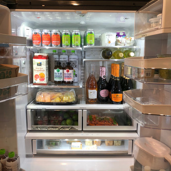 Stocked refrigerator at Air BNB, Jersey City