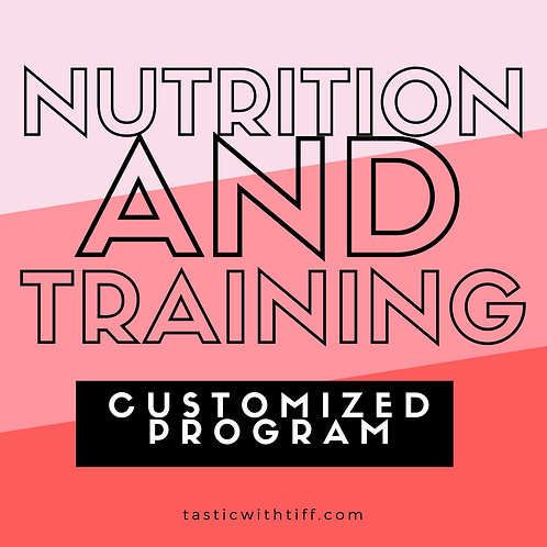 Customized Training & Nutrition Plan