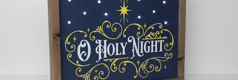 O Holy Night - lighted sign