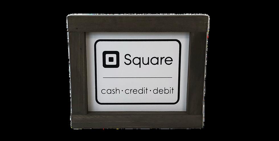 Square Vendor Sign