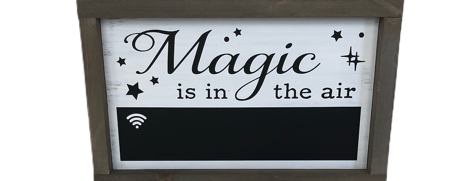 Magic is in the air WIFI Chalkboard