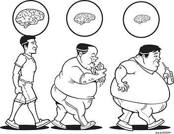 cérebro gordo corpo magro