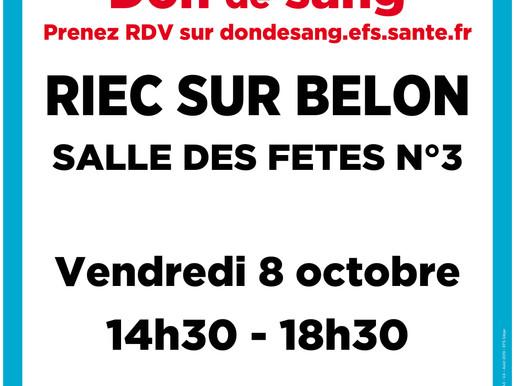 Don du sang : prochaine collecte le 8 octobre