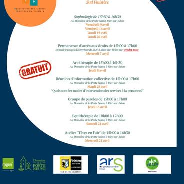 Programme d'activités de l'AAFF - Avril 2021