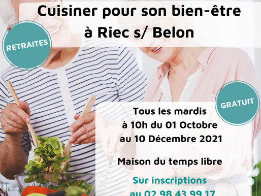 Le programme « Bien vieillir, cuisiner pour son bien-être » arrive à Riec sur Belon !