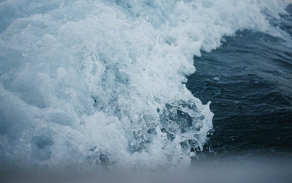 Deep Blue Waves Crashing Copyright Garrett Chace