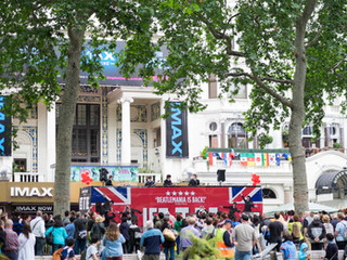 The Let It Be band in Leicester Square.