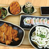 Pork Cutlet & Udon Platter