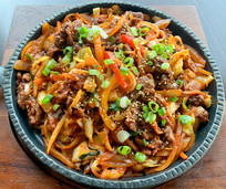 Spicy bulgogi with rice