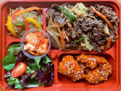 Beef bulgogi rice combo