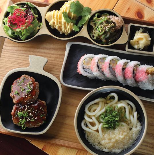 Hamburger Steak & Udon Platter
