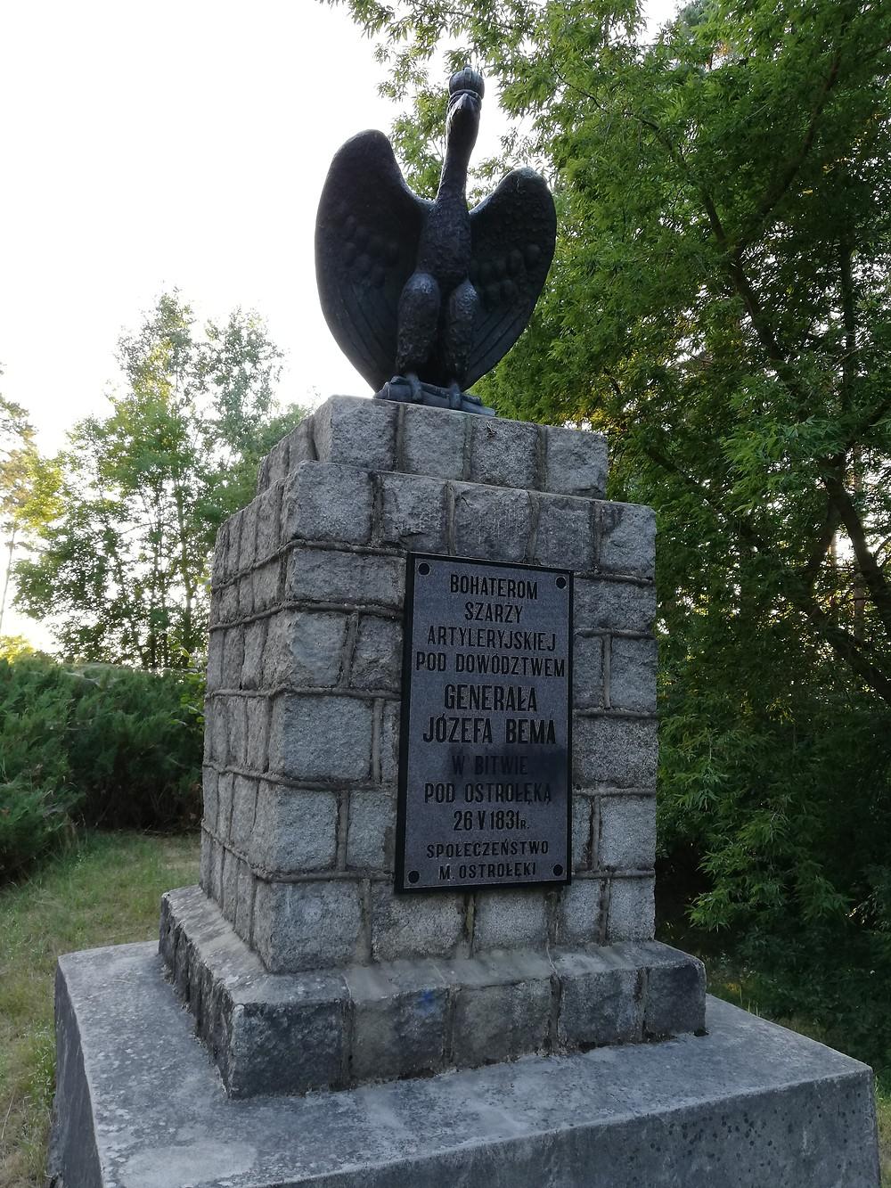 Ostrołęka. Pomnik bohaterów szarży Józefa Bema