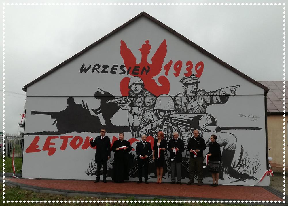 Odsłonięcie muralu w Łętownicy