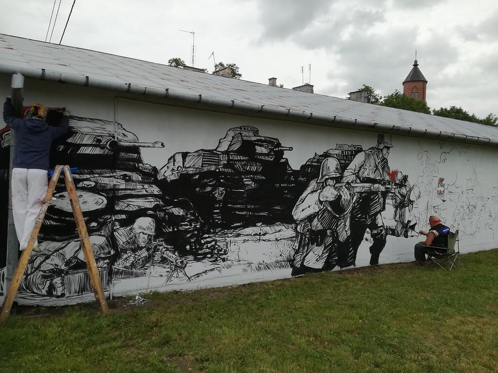 Mural w Andrzejewie