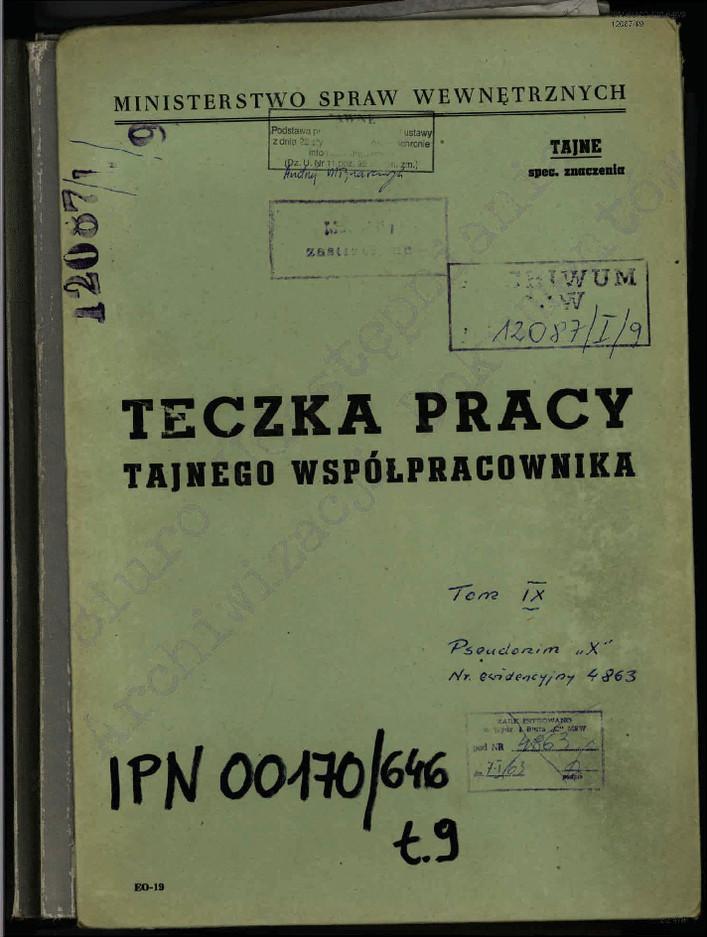 """Teczka TW """"X"""""""