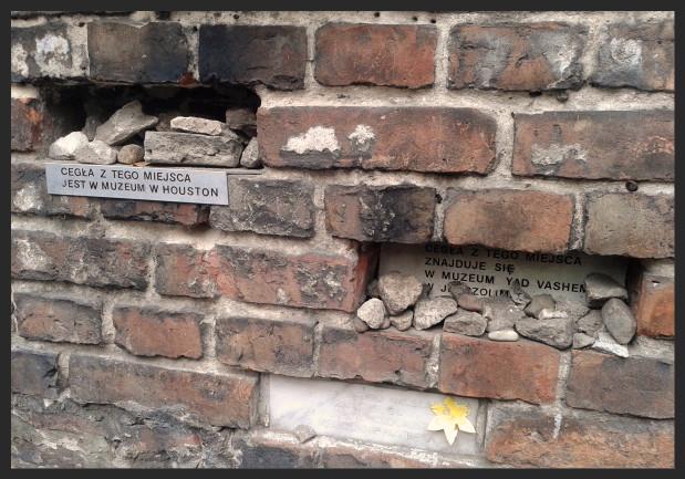 Fragment muru getta w Warszawie