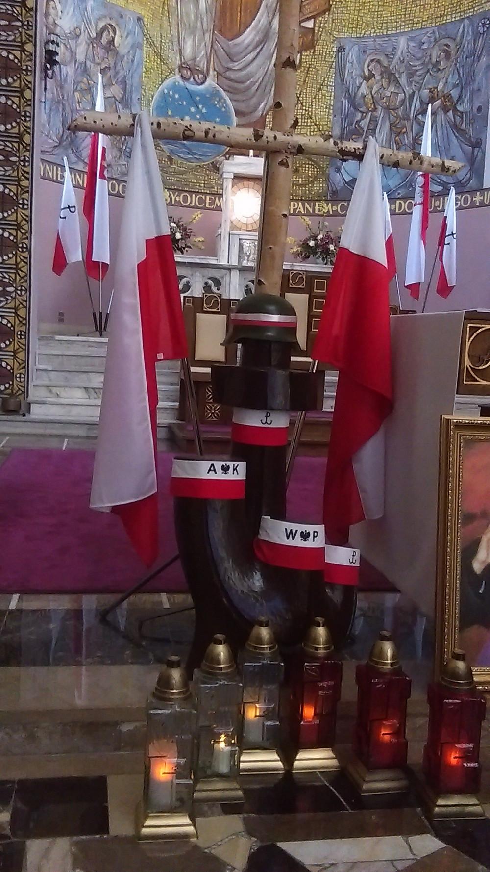 Patriotyczna dekoracja kościoła