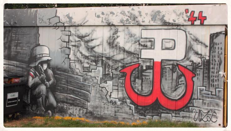 Jeden z warszawskich murali