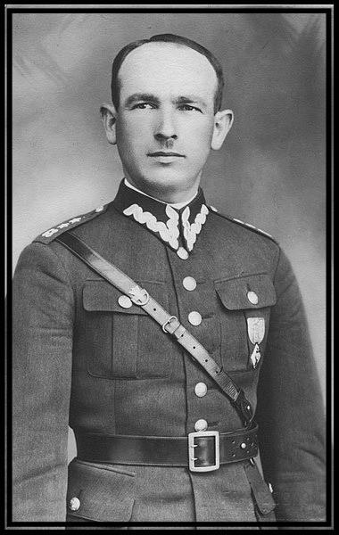 Władysław Dąbrowski (jeszcze w randze porucznika)