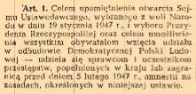 Ustawa z 22 II 1947r.