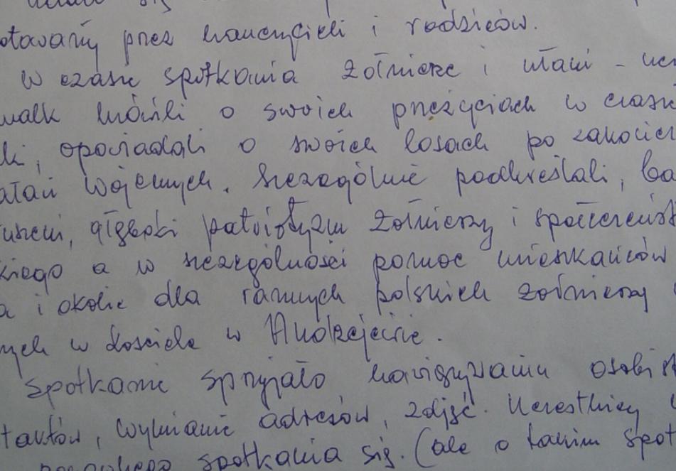 Fragment listu
