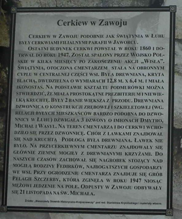 Tablica w Bieszczadach
