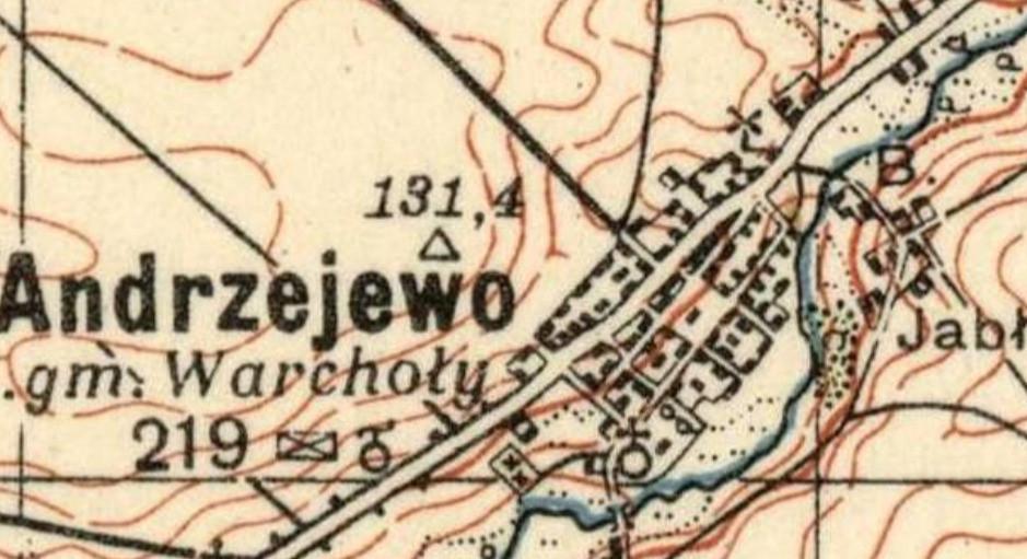 Mapka Andrzejewo