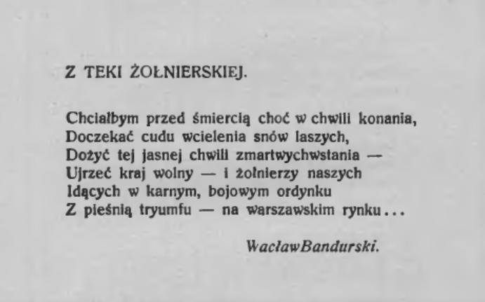 Wiersz W. Bandurskiego