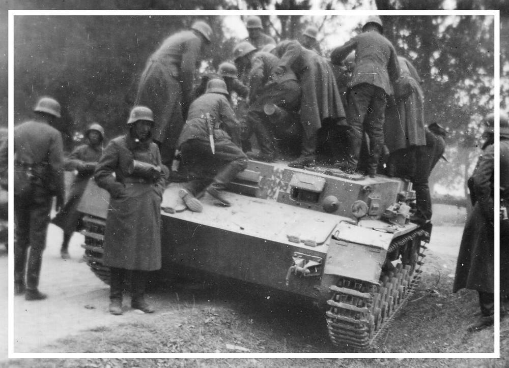 Czołg rozpoznawczy TK w okolicy Zambrowa