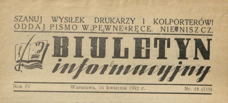 Biuletyn informacyjny 1942r.