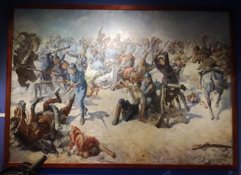 Bitwa pod Zagórzem. Obraz w Muzeum WP