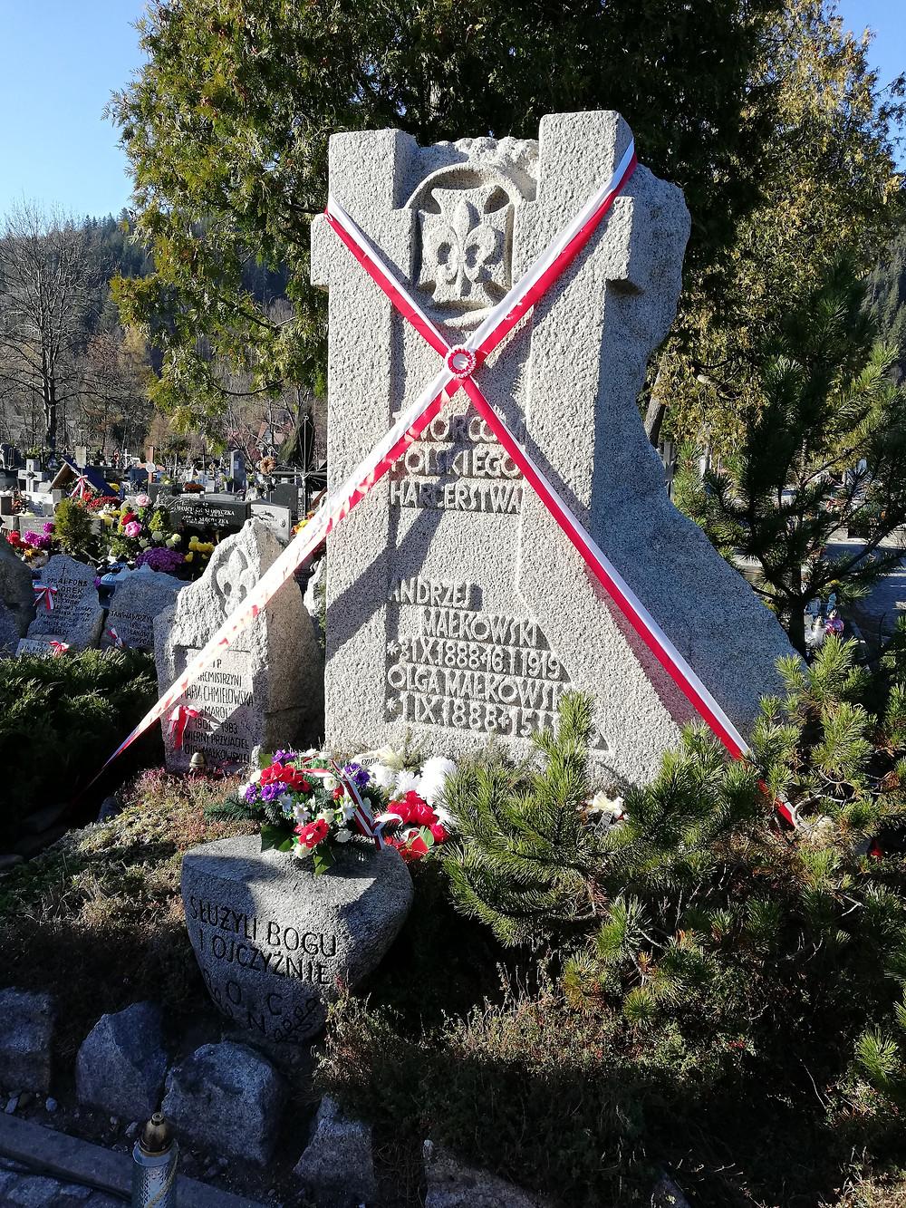 Grób Andrzeja Małkowskiego w Zakopanem