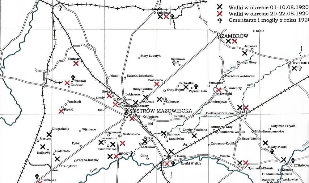 Mapa z publikacji A. MIerzwińskiego