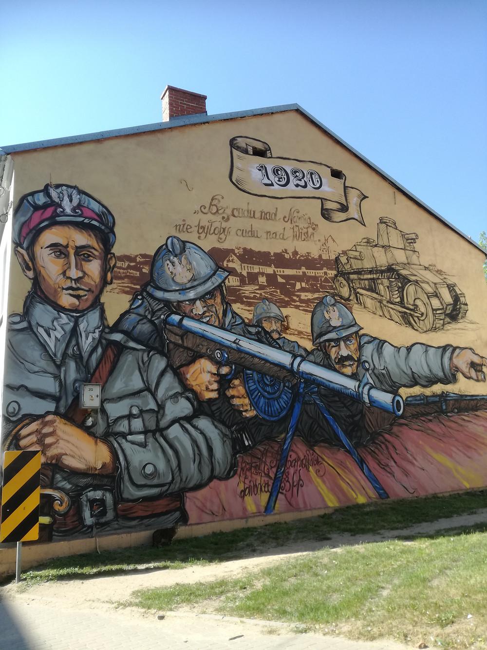 Mural w Łomży
